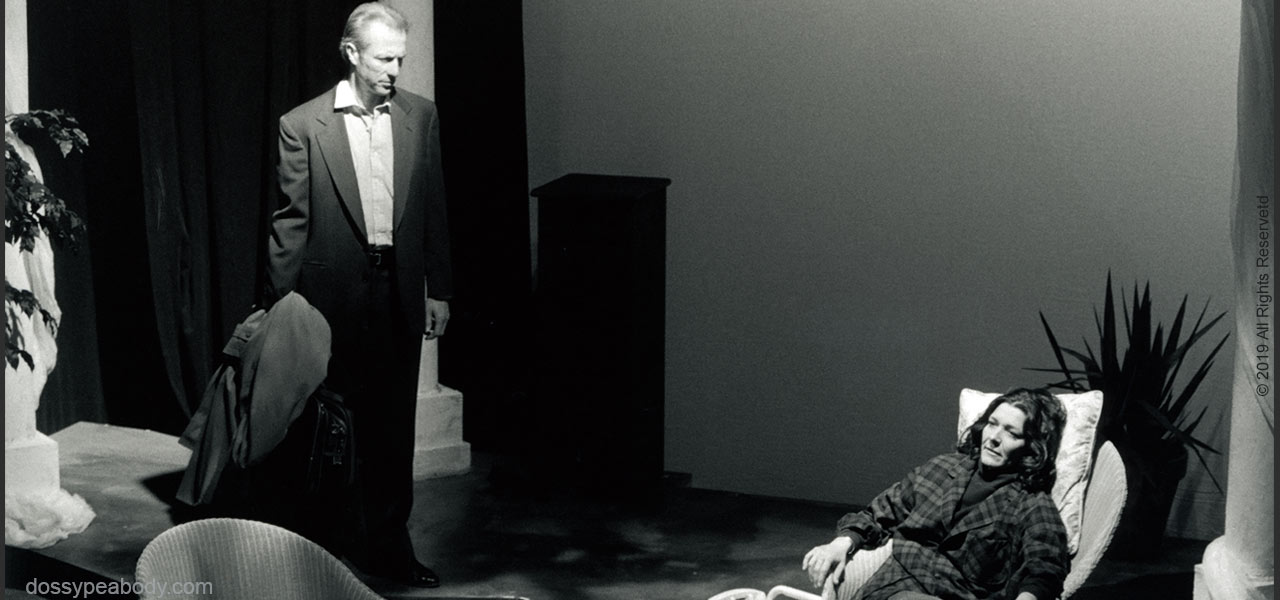 Will Lyman and Dossy Peabody in 'Love in The Gulf ' directed by Kate Snodgrass Boston Playwrights's Theatre