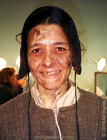 Dossy Peabody as Mary Silber on the set of the movie 'The Crucible' directed by Nicolas Hytner