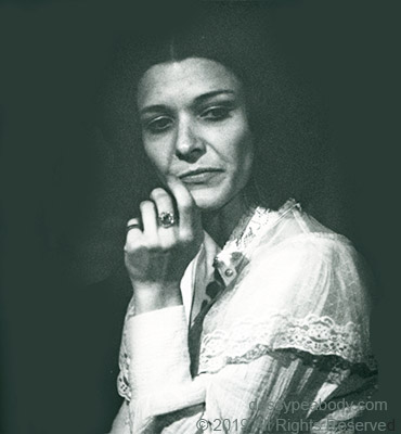 "Dossy Peabody as Blanche Dubois in ""A Street Car Named Desire"" directed by Mickey Coburn at the 'The Acting Place'"