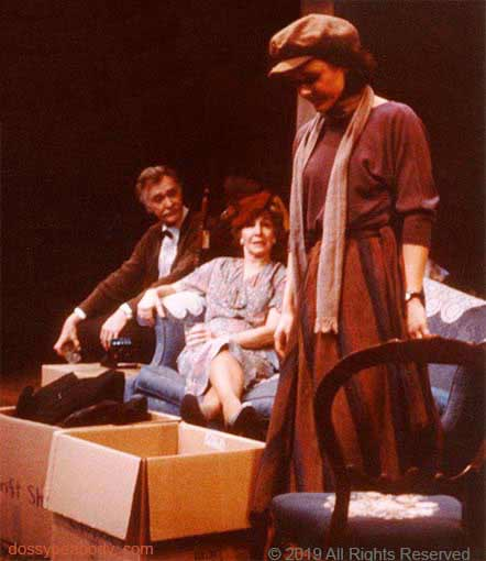 Dossy Peabody, Victoria Boothby, and Robert Blackbur in Theatre-by-the-Sea's 'Painting Churches' directed by Tom Celli